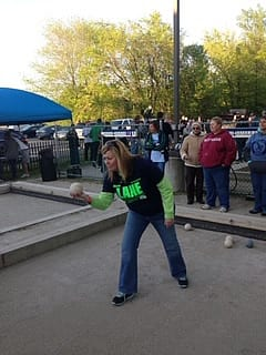 Image of Marie playing Bocce